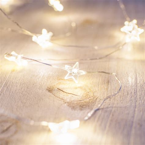 warm white star micro fairy lights  lightsfun