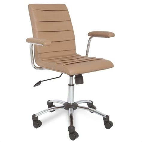 leick furniture saddle faux leather pleated office chair