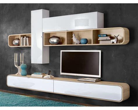 meuble suspendu chambre étourdissant meuble tv suspendu blanc laqué et ensemble