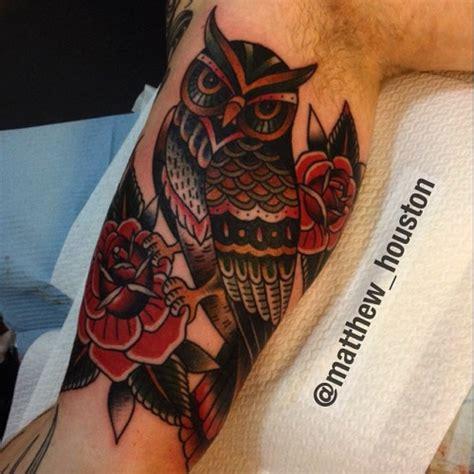 traditional owl tattoos ideas