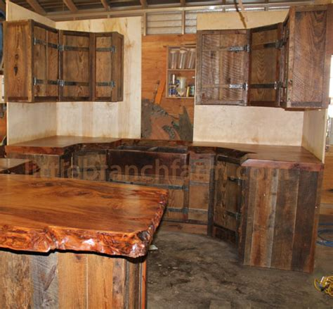 kitchen cabinets made from barn wood rustic kitchen cabinets 9164