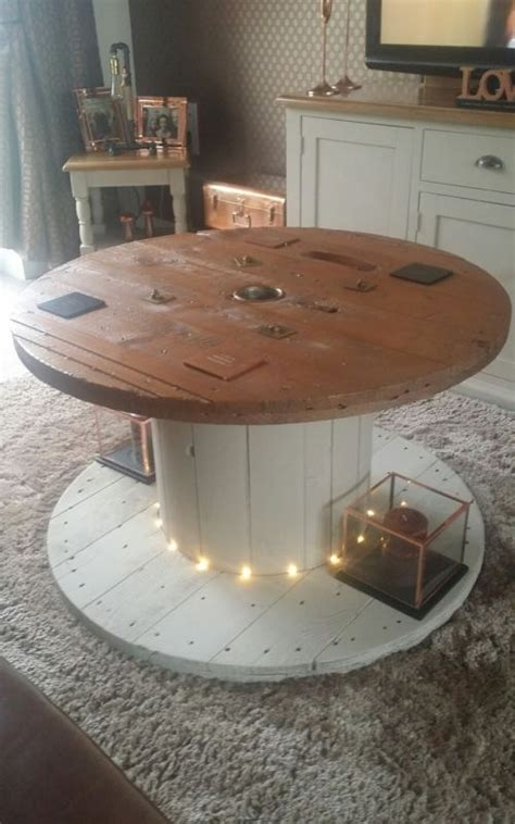 reclaimed cable reel coffee table cable drum table
