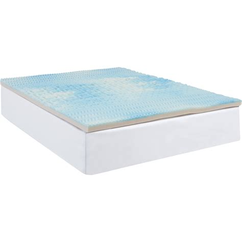 cooling gel mattress topper beautyrest five zone fusion foam mattress topper
