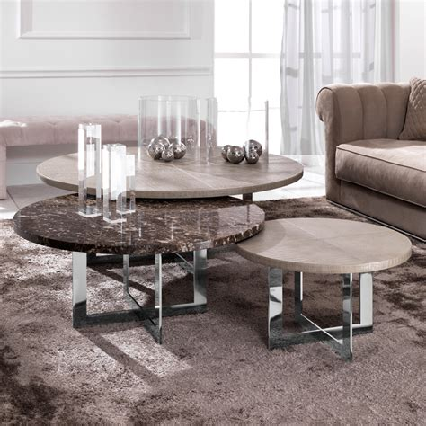 Luxury Nest Of Round Coffee Tables  Juliettes Interiors