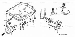 Honda Motorcycle 2004 Oem Parts Diagram For Oil Pump