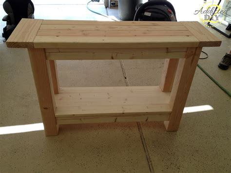diy sofa table plans unfinished custom diy wood outdoor console table with