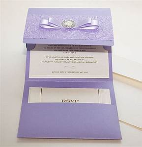 15 inspiring wedding invitations you won39t miss polina perri With purple pocket wedding invitations uk