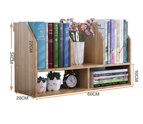 Desktop Bookcase by 60 20 34cm Solid Wood Bookcase Portable Desktop Bookshelf