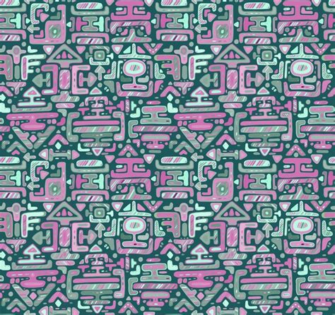 Premium Vector   Seamless pattern with hand drawn color ...