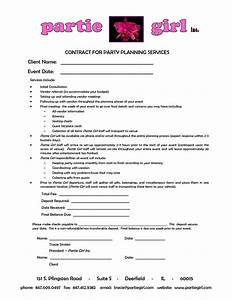 party planner contract template google search plan a With wedding services contract