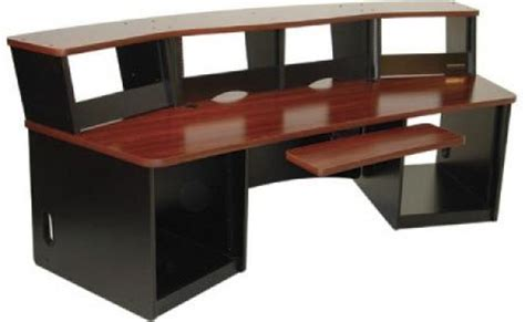 Omnirax Presto 4 Studio Desk Mahogany by Omnirax Frc40mp Audio Workstation Desk Maple Finish