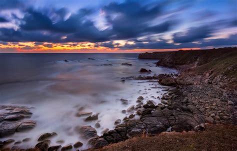 Wallpaper Sunset, Landscape, Nature, Beautiful, Seascape