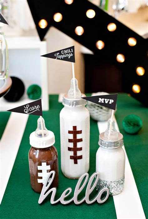 soccer baby shower a football baby shower sip and see with nfl homegating