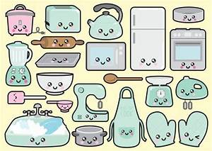 premium vector clipart kawaii kitchen by With kitchen colors with white cabinets with kawaii planner stickers
