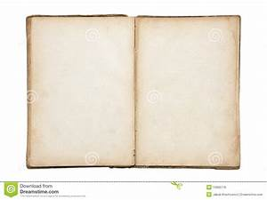 Open Old Blank Book Royalty Free Stock Image - Image: 15955716