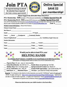 pta membership With pta membership card template