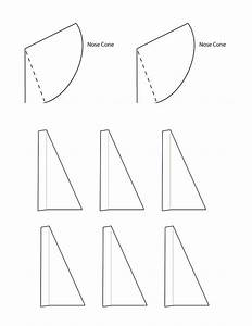 Bottle rocket nose cone template for Paper stomp rocket template