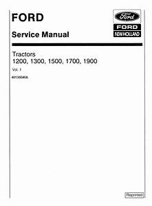 Ford 1200  1300  1500  1700  1900 Tractors Service Manual