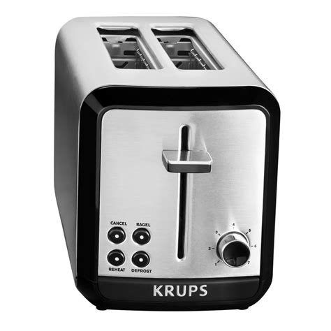 krups 2 slice toaster krups savoy 2 slice stainless toaster kh311050 the home