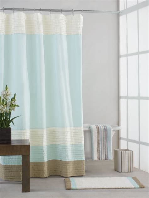 blue color block curtains