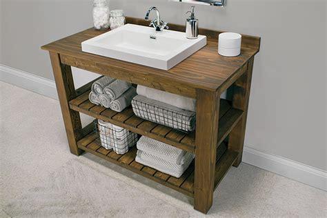 Rustic Bathroom Vanity   buildsomething.com