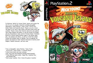 capas de xbox  playstaton   cd nicktoons unite nicktoons battle  volcano island nhl