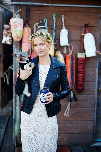chic ways  rock  leather jacket   wedding weddingomania