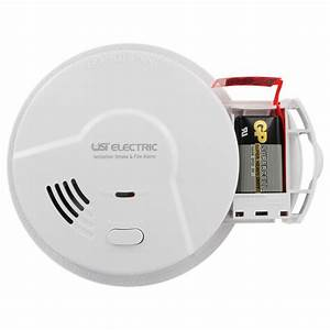 Usi Hardwired Ionization Smoke And Fire Alarm With Battery