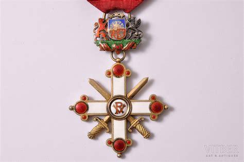 Ordenis, Viestura ordenis ar šķēpiem, 4. pakāpe, sudrabs, emalja, Latvija, 1938-1940 g., 63.3 x ...