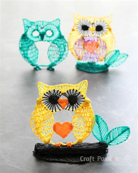 owl drawing  video  template craft