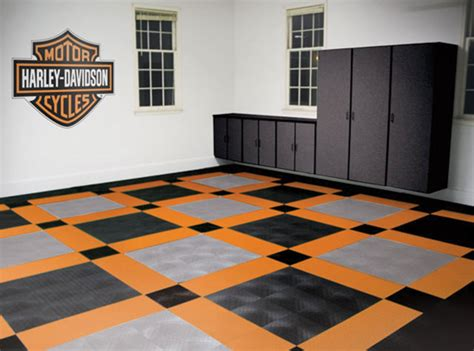 Harleydavidson Garage Flooring Tiles  Motorcycle Floor Pad