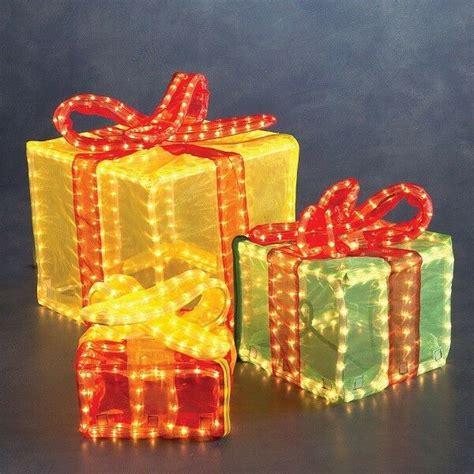 Weihnachtsdekoration Aussen Beleuchtet by 3d Lichtschlauch Silhouette Geschenkw 252 Rfel Bunt Konstsmide
