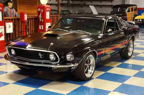 ford mustang mach  black red ae classic cars