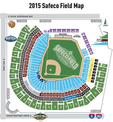 seating chart mariners safeco field game  ticket seattle mariners