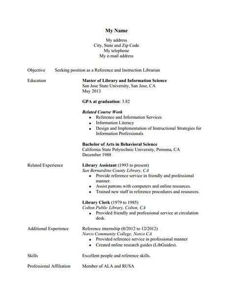 International Student Part Time Resume by Unnamed 16 Hiring Librarians