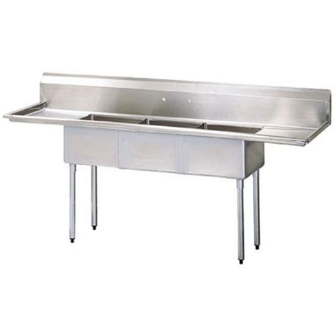 3 compartment sink price turbo air tsa 3 14 d2 102 in three compartment sink