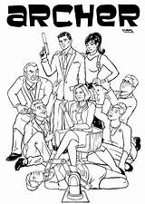 Archer Coloring Pages Template Poster sketch template
