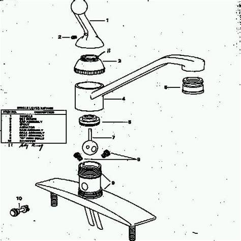 delta faucet repair diagram single handle faucet repair