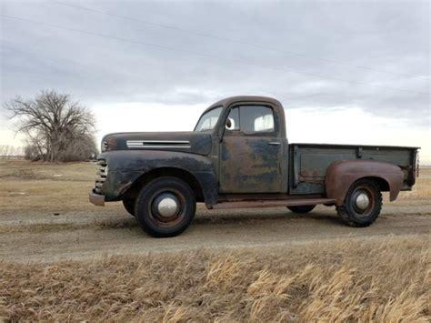 1950 ford f3 f68 f2 f1 flathead v8 barn find patina farm