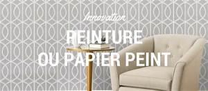Peinture Sur Papier Peint Existant : peinture ou papier peint sur les murs ~ Dailycaller-alerts.com Idées de Décoration
