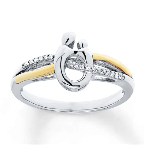 Kay  Mother & Child Ring 120 Cttw Diamonds Sterling. Yellow Gold Jewellery. Jeweled Rings. Black Stone Rings. Wrap Wedding Rings. Cut Bands. Kelly Dog Bracelet. Simple Womens Wedding Band. Italian Gold Anklet
