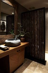 tips for decorating with bamboo and rattan bamboo wall With bamboo in the bathroom