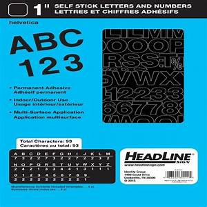 headline sign 31111 stick on vinyl letters and numbers With peel and stick letters for outdoor signs