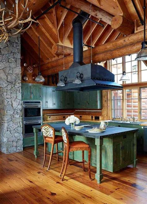 cuisine de chalet déco chalet de montagne moderne ou traditionnelle