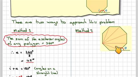 interior  exterior angles   regular octagon