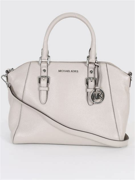 michael kors ciara leather cement luxury bags