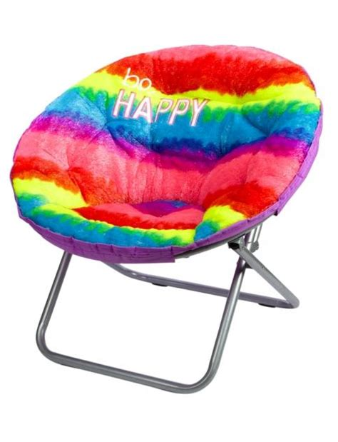 chair rainbow faux fur rainbow saucer chair from justice
