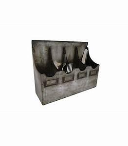 Couvert De Cuisine : range couverts de cuisine mural en zinc ~ Teatrodelosmanantiales.com Idées de Décoration