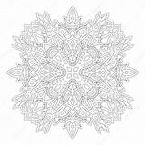 Premium Linear Coloring Abstract Pattern Vector sketch template