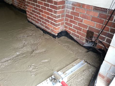 laying floating floor on concrete laying a garage concrete floor diy my extension